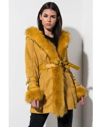 AKIRA - From The Yukon Faux Fur Trimmed Hooded Jacket - Lyst