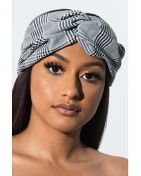 AKIRA - Blair Plaid Headband - Lyst