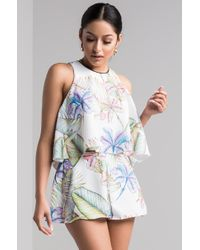 AKIRA - This Place Floral Shorts - Lyst