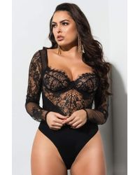489d07d70f Wacoal. Body By Underwire Bra.  44. Amazon · AKIRA - Cant Get Enough Sexy  Lace Bodysuit - Lyst
