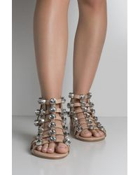 Cape Robbin - Finally Studs Flat Sandals - Lyst