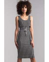 AKIRA - Get Your Head Up Bodycon Midi Dress - Lyst