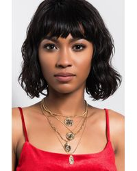 AKIRA - Gold Chariot Layered Necklace - Lyst