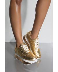 AKIRA - Get On Up Platform Sneaker - Lyst