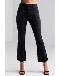 Akira | Josie High Waist Flared Jeans | Lyst