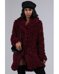 AKIRA - Close Your Eyes Oversized Faux Fur Coat - Lyst