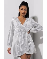 AKIRA - Diamond In The Rough Mini Dress - Lyst