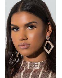 AKIRA - Wild Hearts Diamond Earring - Lyst