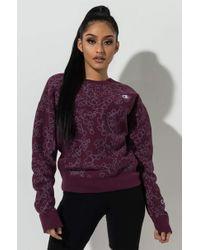 Champion - Reverse Weave Floral Print Crew Neck Sweater - Lyst