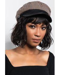 AKIRA - Holiday Lane Stripped Cabby Hat - Lyst