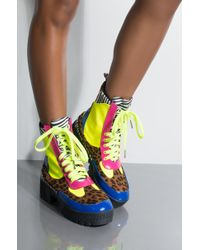 Cape Robbin - Cant Fool Me Lace Up Military Boots - Lyst