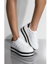 AKIRA - You Cant Outrun Me Flatform Sneaker - Lyst