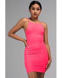 AKIRA - Glow On Backless Bodycon Mini Dress - Lyst