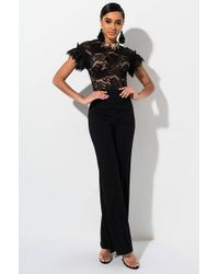 d5485acd0768 AKIRA - Vision Of Love Lace Jumpsuit - Lyst