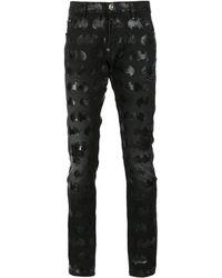 Philipp Plein 'fun Kinds' Batman Jeans - Black