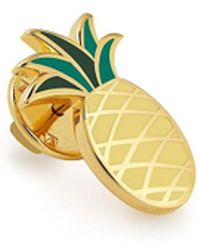 ALEX AND ANI - Pineapple Color Infusion Pin - Lyst