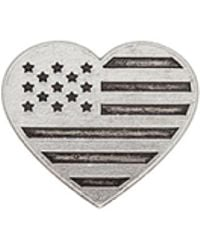 ALEX AND ANI - Heart Flag Pin - Lyst