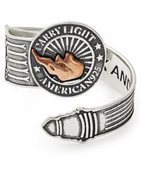 ALEX AND ANI - Liberty Copper Carry Light Spoon Ring - Lyst