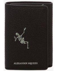 "Alexander McQueen - ""dancing Skeleton"" Trifold Wallet - Lyst"