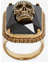 Alexander McQueen - Ring Jewelled Skull - Lyst