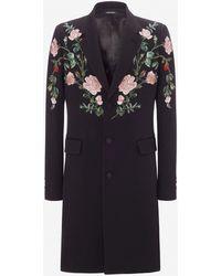 Alexander McQueen - Rose Embroidery Coat - Lyst