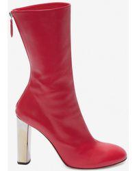 Alexander McQueen - Sculpted Heel Boot - Lyst