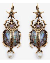 Alexander McQueen - Beetle Earrings - Lyst