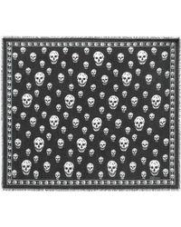 Alexander McQueen - Foulard Silk Mixed Skull Scarf - Lyst