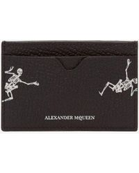Alexander McQueen - Porta Carte Dancing Skeleton in Pelle - Lyst