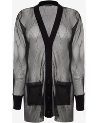 Alexander McQueen - Sheer Cable Knit Cardigan - Lyst