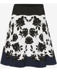 Alexander McQueen - Knitted Mini Skirt - Lyst