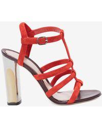 Alexander McQueen - Sculpted Heel Sandal - Lyst