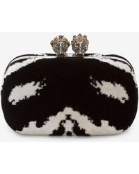 Alexander McQueen - Queen And King Classic Skull Clutch - Lyst