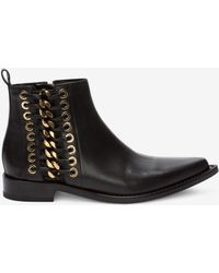 Alexander McQueen - Braided Chain Ankle Boot - Lyst