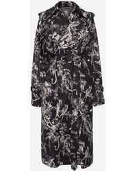 Alexander McQueen - Bird Sketch Trench Coat - Lyst