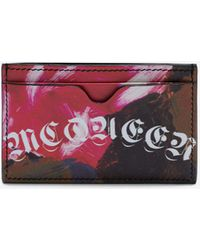 Alexander McQueen - Painted Rose Card Holder - Lyst