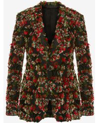 Alexander McQueen - Reverse Jacquard Jacket - Lyst