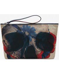 Alexander McQueen - Floral Notebook Zip Pouch - Lyst