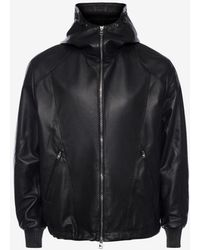 Alexander McQueen - Patchwork Hooded Leather Jacket - Lyst