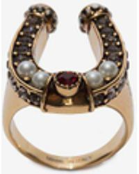 Alexander McQueen - Horseshoe Ring - Lyst