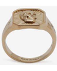 Alexander McQueen - Skull Medallion Square Ring - Lyst