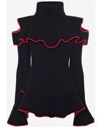 Alexander McQueen - Ruffle Knitted Jumper - Lyst