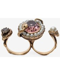 Alexander McQueen - Snake Jeweled Ring - Lyst
