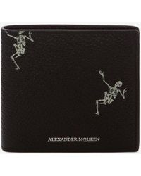 """Alexander McQueen - """"dancing Skeleton"""" Leather Billfold Wallet - Lyst"""