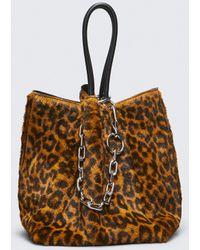 Alexander Wang - Leopard Roxy Small Bucket Tote - Lyst