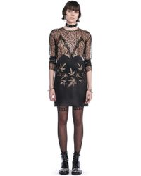 Alexander Wang - Runway Long Sleeve Dress With Lace Leaf Embroidery - Lyst