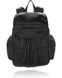 Alexander Wang | Marti In Black Satin With Matte Black | Lyst