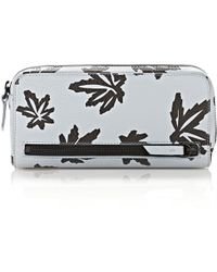 Alexander Wang - Fumo Continental Wallet In Leaf Printed Pale Blue - Lyst