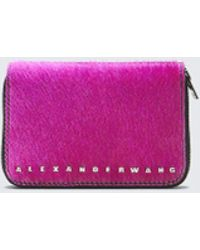 992499488 Alexander Wang - Fushsia Dime Compact Wallet - Lyst