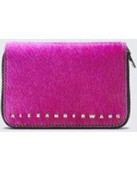 Alexander Wang - Fushsia Dime Compact Wallet - Lyst